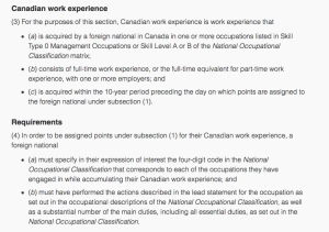 Canadian Work Experience